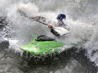 kayak on the rapids