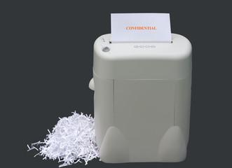 shredding confidential information