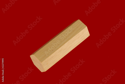 wooden geometric shape