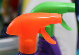 colored cleaning fluid nozzles poster