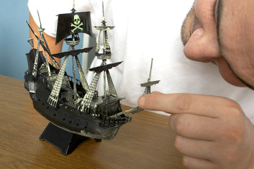 model of pirate ship