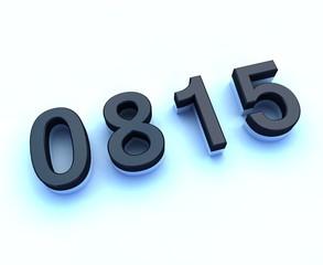 0815 3d sign