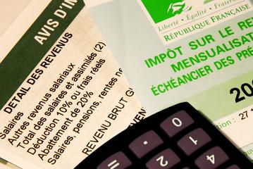 feuilles d'imposition diverses