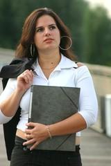 jeune étudiante brune - young brown student