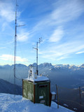 mountaintop weather station poster