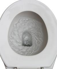 flushed toilet