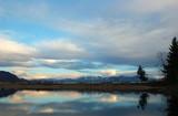 fraser river sunset poster