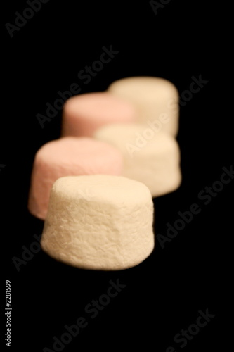 marshmallows in a row