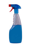 blue spray isolated poster