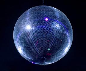 disco sphere isolated on black