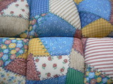 padded patchwork material poster