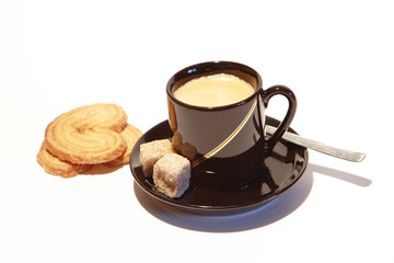 espresso with cookie