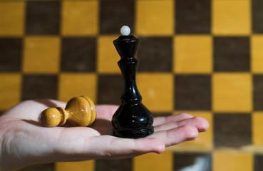 queen versus pawn