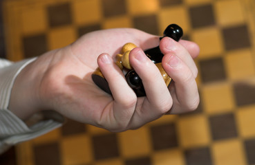 pawns in hand