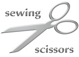 sewing scissors poster