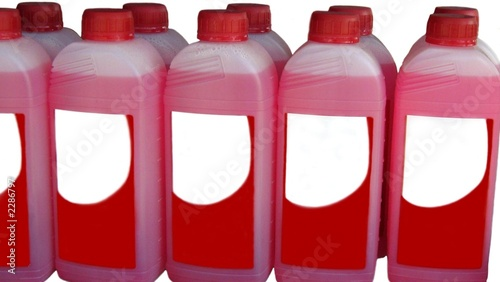 poster of bottles of cleaning product.bleach.disinfectant