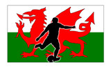 rugby kick wales poster