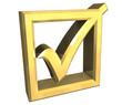 simbolo spunto ok in oro