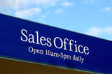 sales office sign poster