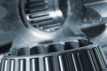 ball-bearing against gears