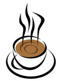 coffee cup vector poster