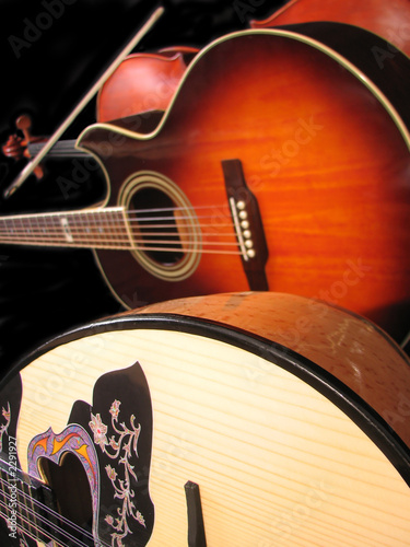 viola, guitar and bouzouki