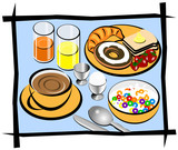 complete breakfast illustration poster