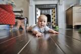 baby crawling poster