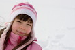 young girl on snow