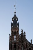 magna plaza tower in amsterdam poster