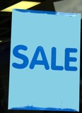 sale. sign poster
