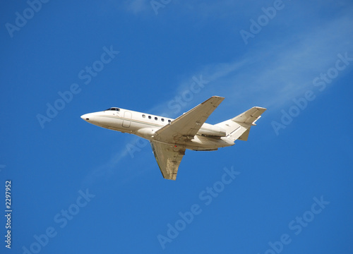 poster of light jet airplane for corporate travel