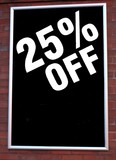 sign. sale . 25% off poster