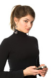 girl in balck sweater poster