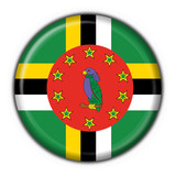 bottone bandiera dominica button flag