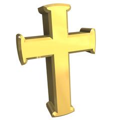 simbolo croce in oro