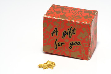 gift box and gold