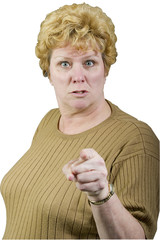angry woman pointing