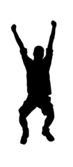 jumping silhouette 2