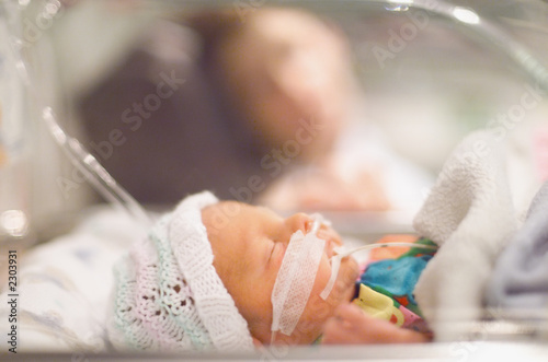 Leinwanddruck Bild premature baby