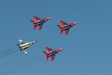 red and white jets