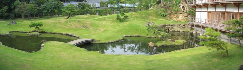 panoramique - jardin zen-temple kenchoji-kamakura