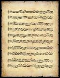 vintage music sheet poster