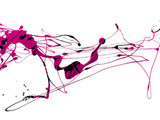 Fototapety abstract zen ink painting graphic