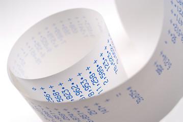 calculator paper.