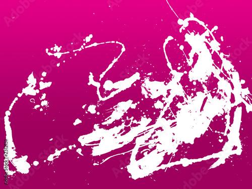 Plexiglas Roze abstract zen ink painting graphic