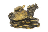 chinese brass tortoise lucky charm poster