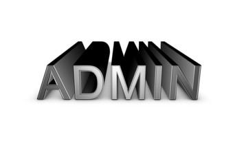 admin 3d sign