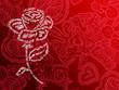 rose typos fond rouge