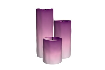3d illustration of candles on a white background